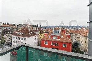 Great view from terrace - Nice Unfurnished Duplex Flat 3+kk, 2 bathrooms, Prague 4, Na dolinách str.