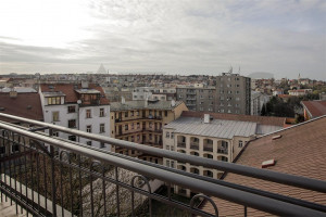 View of Prague - For Rent: Unfurnished 3-bedroom Duplex Apartment, 138,07sqm, Za Strahovem, Praha 6 - Břevnov