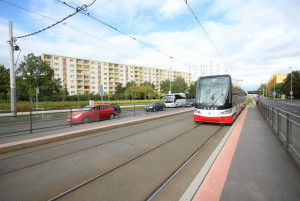 Ulice Evropská Praha 6 - Vokovice v blízkosti sídliště červený Vrch