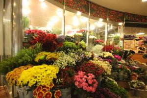 Květinářství v obchodním centru Flora nabízí široký sortiment květin