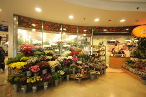 Květinářství v obchodním centru Flora