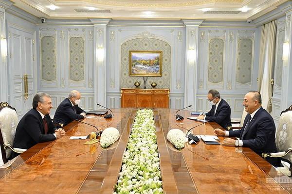 Prezident Uzbekistánu přijmul delegaci Tureckaer_