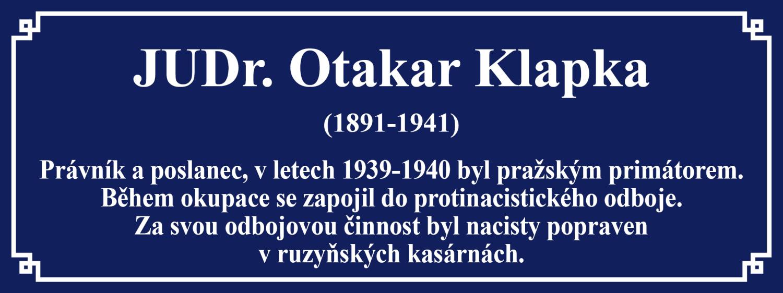 JUDr. Otakar Klapka (1891–1941)